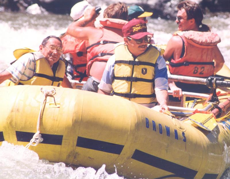 Bruce and I rafting in Colorado